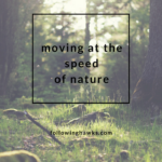 Moving at the Speed of Nature