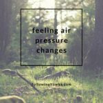 Feeling Air Pressure Changes